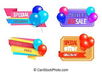Seasonal Discount Premium Best Sale Promo Labels