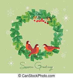 Seasonal greeting wreath