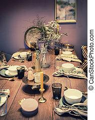 home dinner table