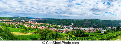 landscape and panoramic view of Wurzburg, Bavaria