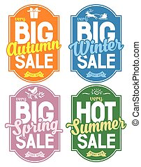 Seasonal Sale - Advertisement about the seasonal summer, ...
