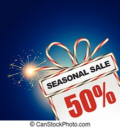 seasonal sale discount - vector seasonal sale design ...