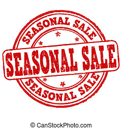 Seasonal sale stamp - Seasonal sale grunge rubber stamp on...