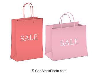 Seasonal sale - two shopping bags