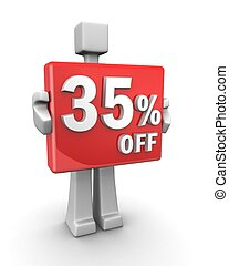 Seasonal sales 35 pecent off for shopping discount