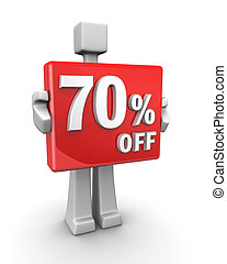 Seasonal sales 70 pecent off for shopping discount