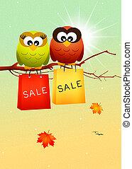 seasonal sales - illustration of seasonal sales