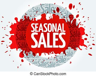 SEASONAL SALES vector words cloud