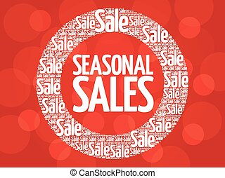 SEASONAL SALES words cloud
