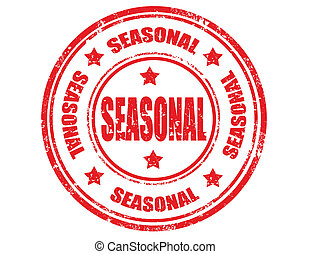 Seasonal-stamp - Grunge rubber stamp with word Seasonal...