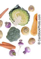 seasonal vegetables background