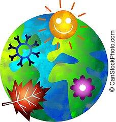 seasonal world - spring, summer, autumn and winter world