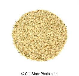 Seasoned bread crumbs - A portion of seasoned bread crumbs...