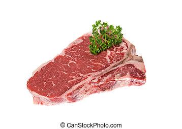 Seasoned steak - Beautiful cut of beef deliciously seasoned...