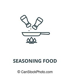 Seasoning food vector line icon, linear concept, outline sign, symbol