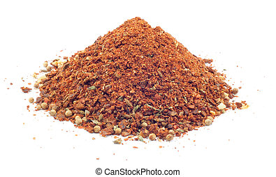 seasoning for cooking pilaf on a white background