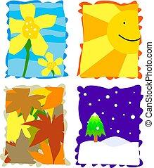 seasons - seasonal icons