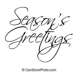 Season's Greetings vector type for seasonal use.