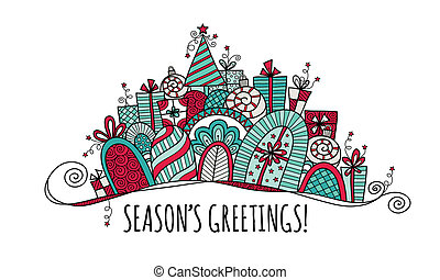 Season's Greetings Christmas Banner
