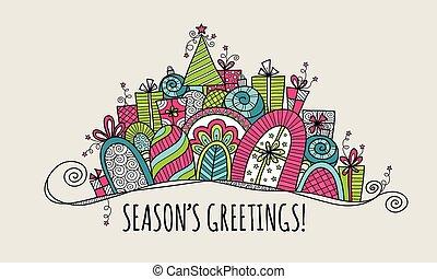 Season's Greetings Christmas Banner