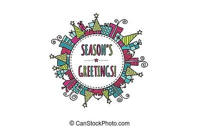 Season's Greetings Christmas Bright