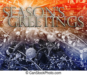 Seasons Greetings concept background - Merry christmas...