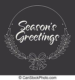Season's Greetings Handwritten text