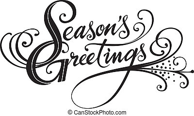 Season's Greetings - Vector version of my own calligraphy