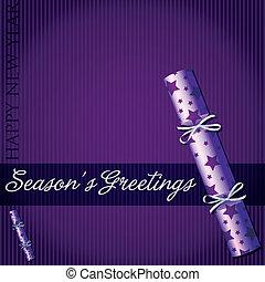 Season's Greetings star cracker card in vector format.