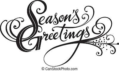 Season's Greetings - Vector version of my own calligraphy
