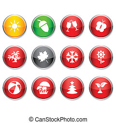 Seasons round icons.