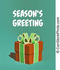 season's, saudação, feriado, cartão