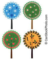 Seasons trees.