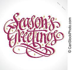 season's, (vector), saludos