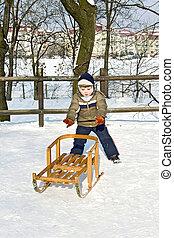 Seasons-winter walk.