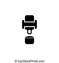 Seat Belt Flat Vector Icon