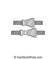 Seat belt icon, black monochrome style
