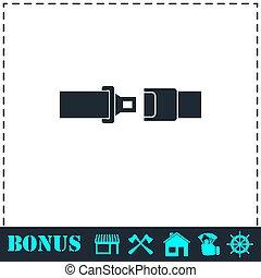 Seat belt icon flat