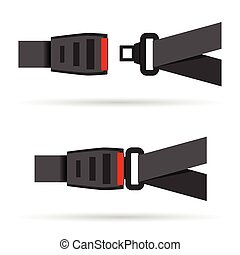 seat belt icon illustration