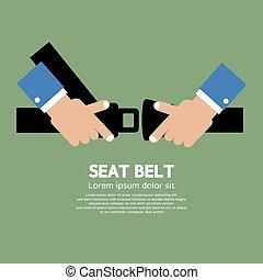 Seat Belt. - Seat Belt Vector Illustration.