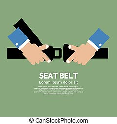 Seat Belt. - Seat Belt Vector Illustration.