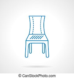 Seat blue flat line vector icon
