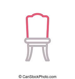 seat  color line icon
