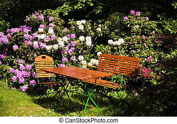 Seat in a garden