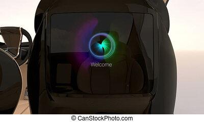 Seat monitor GUI interface - Demonstration of seat mounted...