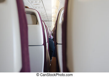 Seat on the plane