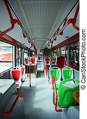 Seat places in modern city bus