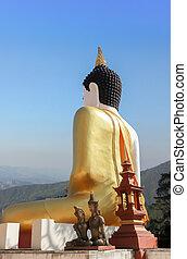 Seated buddha image