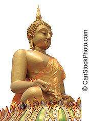 Seated buddha image isolated