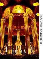 Seated Buddha- Rangoon, Burma (Myanmar)